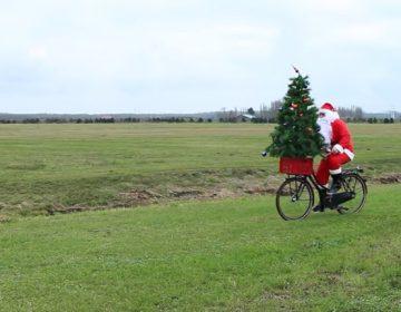 kerst op de fiets
